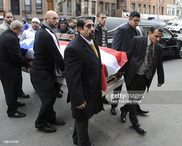 A casket containing the body of Hector Macho Camacho is carried into St Cecilia's Church for his funeral on Saturday Dec 1 2012 Macho Camacho a...
