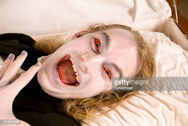 casket & face of death, spooky screaming dead man, zombie horror - open casket stock pictures, royalty-free photos & images