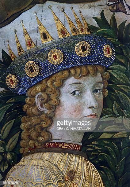 Caspar alleged portrait of Lorenzo il Magnifico detail from the Procession of the Magi fresco by Benozzo Gozzoli Magi Chapel Palazzo Medici Riccardi...