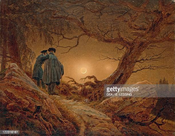 Caspar David Friedrich , Two men contemplating the moon, 1819-20.