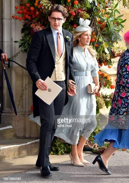 Caspar Jopling and Ellie Goulding after the wedding of Princess Eugenie to Jack Brooksbank at St George's Chapel in Windsor Castle on October 12 2018...