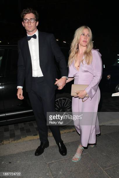 Caspar Jopling and Ellie Goulding seen attending the GQ Men Of The Year Awards 2021 at the Tate Modern on September 01, 2021 in London, England.