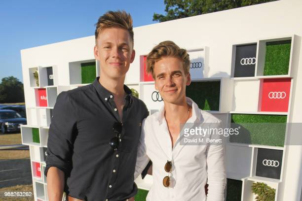 Caspar Lee and Joe Sugg attend the Audi Polo Challenge at Coworth Park Polo Club on June 30 2018 in Ascot England