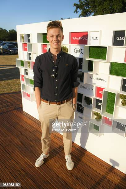 Caspar Lee attends the Audi Polo Challenge at Coworth Park Polo Club on June 30 2018 in Ascot England