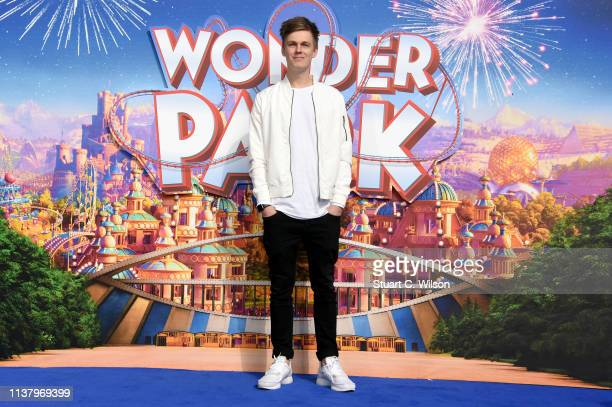 Caspar Lee attends the UK Gala screening of WONDER PARK at Vue Leicester Square on March 24 2019 in London England