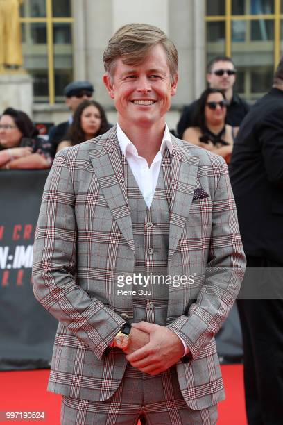 Caspar Phillipson attends the 'Mission Impossible Fallout' Global Premiere on July 12 2018 in Paris France