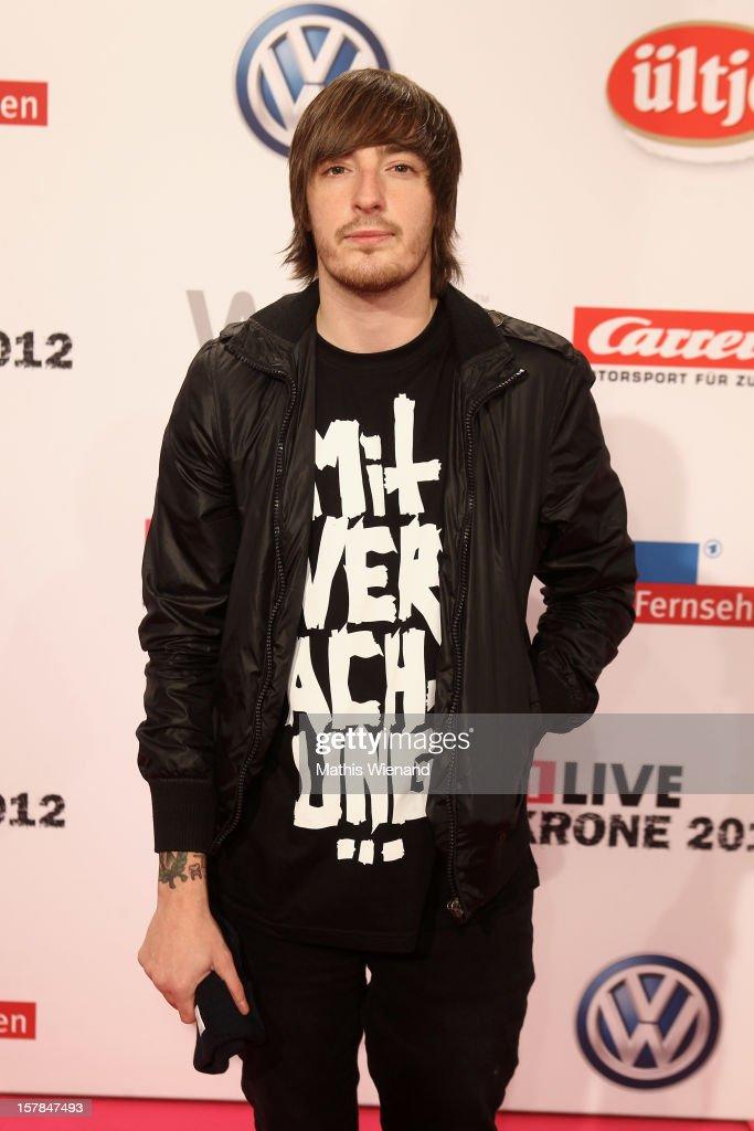 Casper attends the '1Live Krone' at Jahrhunderthalle on December 6, 2012 in Bochum, Germany.