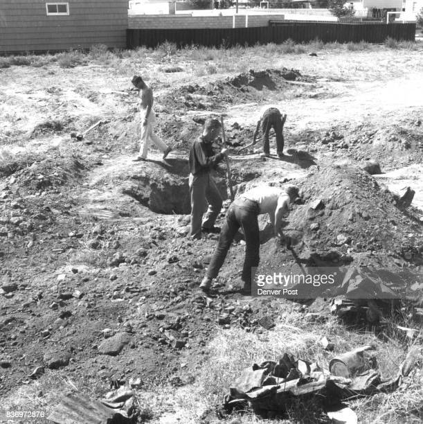 Casper city workmen are busy searching the yard behind James V Alexander's home in the hopes of finding new evidence in the bizzare death of his...