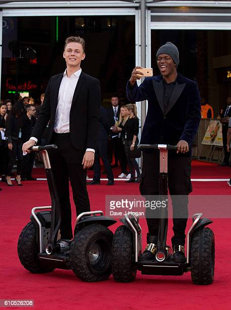 Casper Lee and KSI attend the Laid In America World Premiere at Cineworld 02 Arena on September 26 2016 in London England