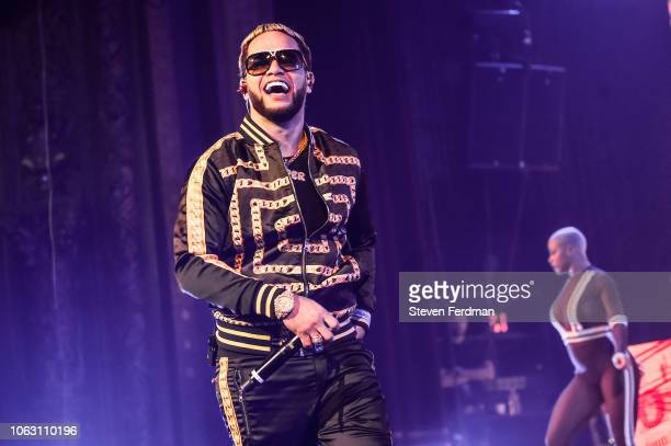 Casper Magico performs live on stage during Anuel AA Karol G In Concert at United Palace Theater on November 17 2018 in New York City