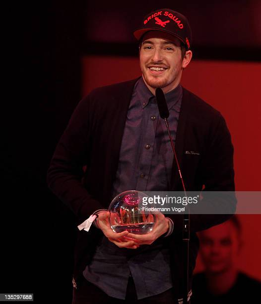 Casper receives the Award for the best album during 1Live Krone at the Jahrhunderthalle on December 8 2011 in Bochum Germany