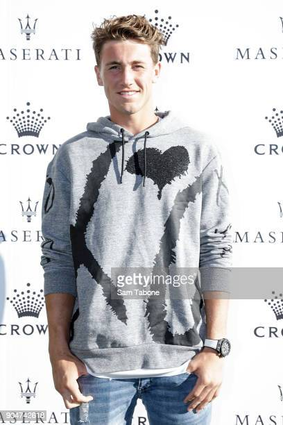 Casper Rudd arrives ahead of the 2018 Crown IMG Tennis Player at Crown Palladium on January 14 2018 in Melbourne Australia