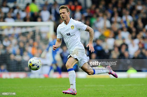 Casper Sloth of Leeds United during Sky Bet Championship match between Leeds United and Huddersfield Town at Elland Road Stadium on September 20 2014...