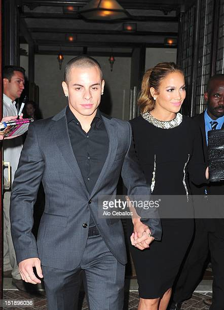 Casper Smart and Jennifer Lopez are seen on September 12 2012 in New York City