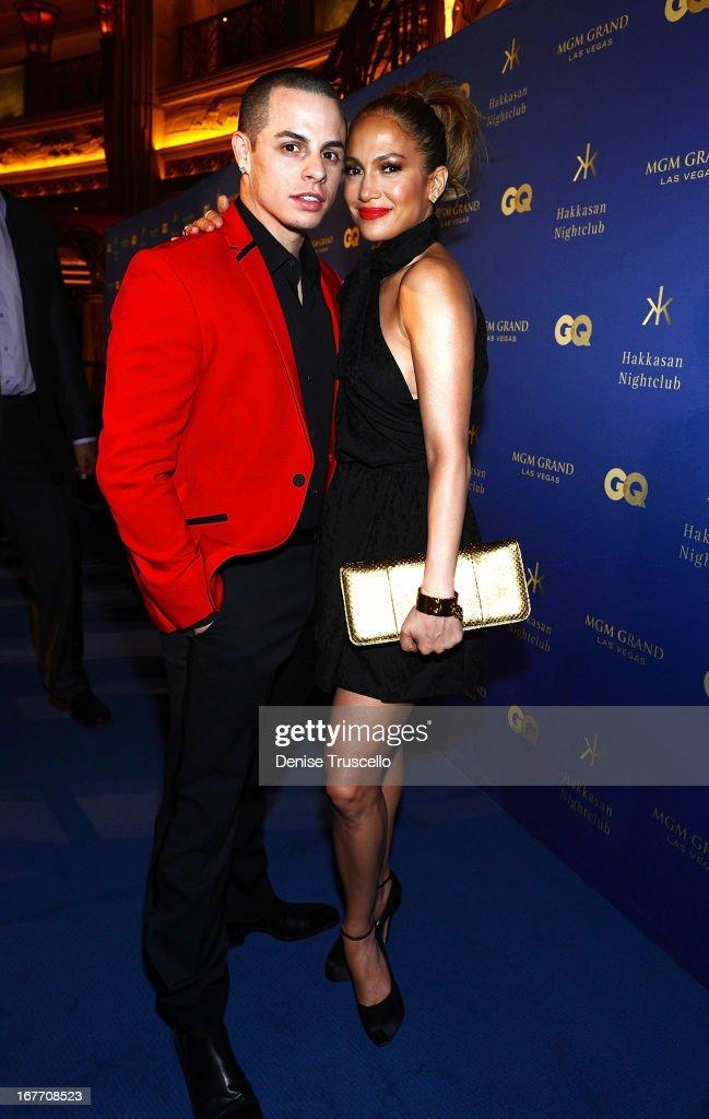 Casper Smart and Jennifer Lopez attend the grand opening of Hakkasan Nightclub at the MGM Grand on April 27, 2013 in Las Vegas, Nevada.