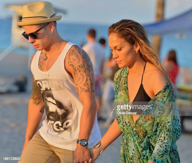 Casper Smart and Jennifer Lopez shoot a video on May 5 2013 in Fort Lauderdale Florida