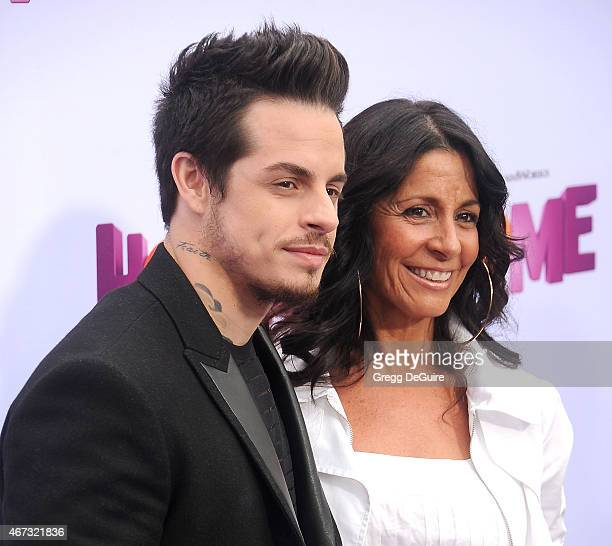 Casper Smart and mom Shawna Lopaz arrive at the Los Angeles premiere of HOME at Regency Village Theatre on March 22 2015 in Westwood California