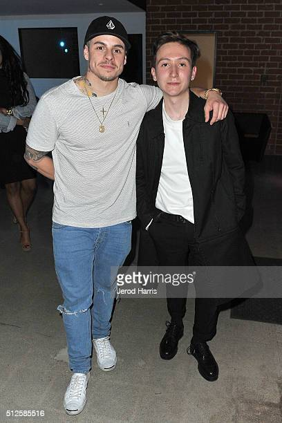 Casper Smart and Ryan Friedlinghaus Jr attends the PAS DE FAUX fashion installation at the EPOCH Creative Exhibit on February 26 2016 in Los Angeles...