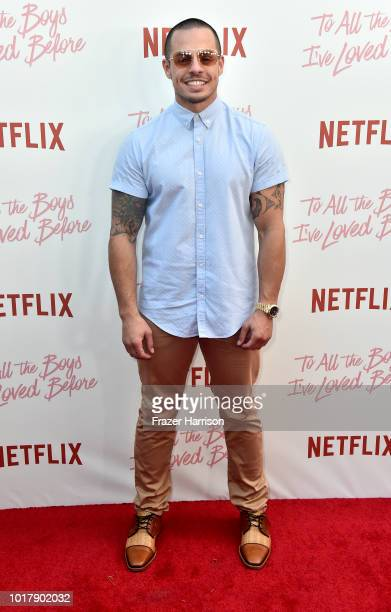 Casper Smart attends the Screening Of Netflix's 'To All The Boys I've Loved Before' Arrivals at Arclight Cinemas Culver City on August 16 2018 in...