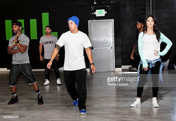 Casper Smart Tera Perez Jimmy RO Smith Jose Hernandez Gilbert Saldivar George Jones Jr and John Silver rehearse at the NUVOtv's 'A Step Away Cast'...