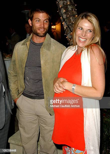 Casper Van Dien and Catherine Oxenberg during PreEmmy Party to Honor John Paul DeJoria's Patron Spirits September 20 2003 at Private Residence in...
