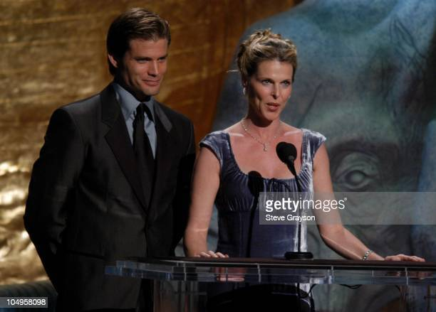 Casper Van Dien and Catherine Oxenberg during The 17th Annual Genesis Awards Show at The Beverly Hilton Hotel in Beverly Hills California United...