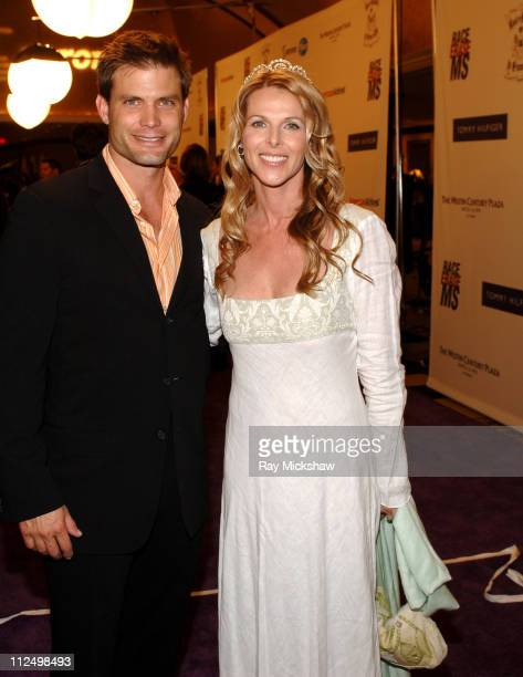 Casper Van Dien and Catherine Oxenburg during 12th Annual Race to Erase MS CoChaired by Tommy Hilfiger and Nancy Davis Red Carpet at The Westin...
