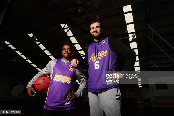 Casper Ware and Andrew Bogut pose during the Sydney Kings preseason camp at Auburn Basketball Centre on July 23 2019 in Sydney Australia
