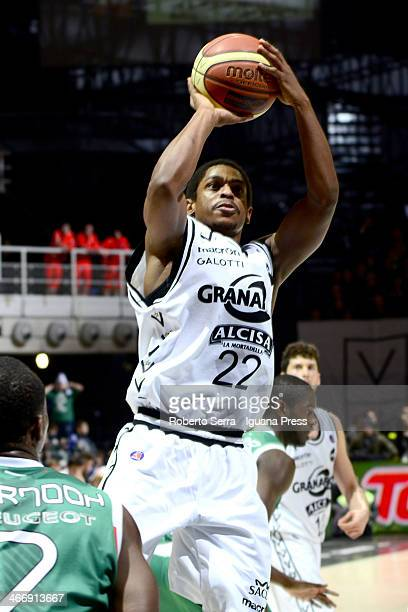 Casper Ware of Granarolo in action during the LegaBasket Serie A1 match between Granarolo Bologna and Montepaschi Siena at Unipol Arena on February 2...