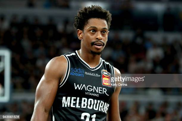 Casper Ware of Melbourne United is seen during game five of the NBL Grand Final series between Melbourne United and the Adelaide 36ers at Hisense...