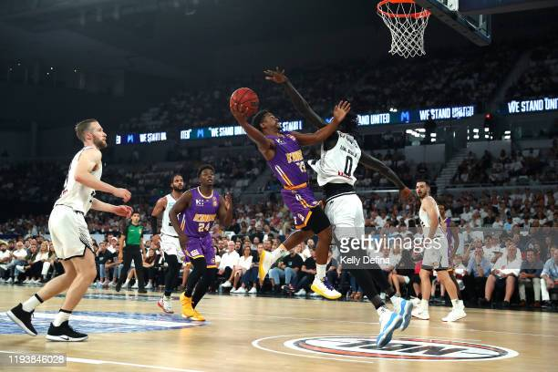 Casper Ware of the Kings drives to the basket during the round 11 NBL match between Melbourne United and Sydney Kings at Melbourne Arena on December...