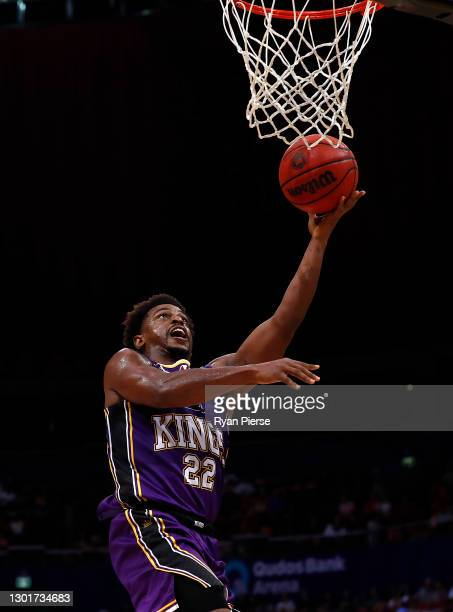 Casper Ware of the Kings drives towards the basket during the round five NBL match between the Sydney Kings and the New Zealand Breakers at Qudos...