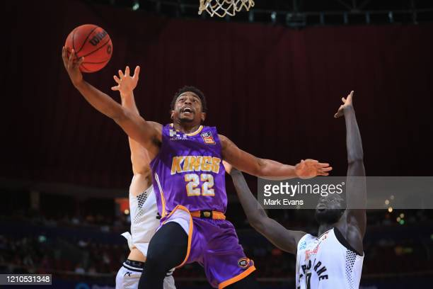 Casper Ware of the Kings lays the ball up during game three of the NBL Semi Final Series between the Sydney Kings and Melbourne United at Qudos Bank...