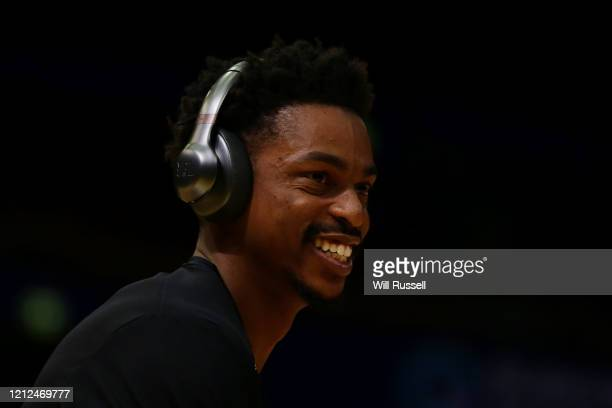 Casper Ware of the Kings looks on at warm up before game three of the NBL Grand Final series between the Sydney Kings and Perth Wildcats at Qudos...