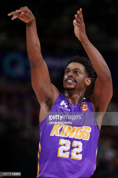 Casper Ware of the Kings shoots from the free throw line during game one of the NBL Grand Final series between the Sydney Kings and the Perth...