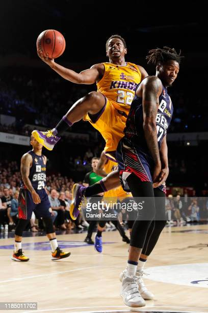 Casper Ware of the Sydney Kings drives to the basket during the round five NBL match between the Adelaide 36ers and the Sydney Kings at the Adelaide...