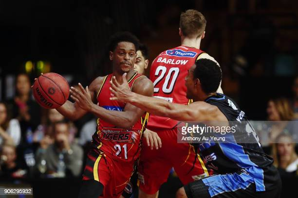 Casper Ware of United in action during the round 16 NBL match between the New Zealand Breakers and Melbourne United at North Shore Events Centre on...