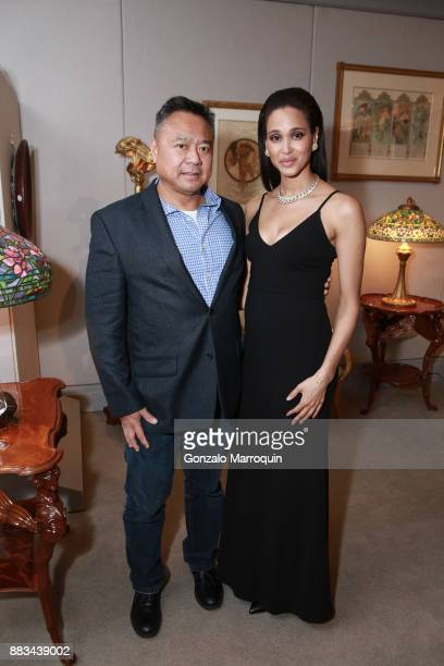 Cass Almendral and Geneva Esse during the The New Macklowe Gallery Opening at 445 Park Avenue on November 30 2017 in New York City