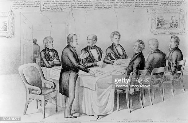 Cass his cabinet in 1849' The satire imputes to the Democrats of 1848 led by candidate Lewis Cass the corrupt practices of the Van Burenera party The...