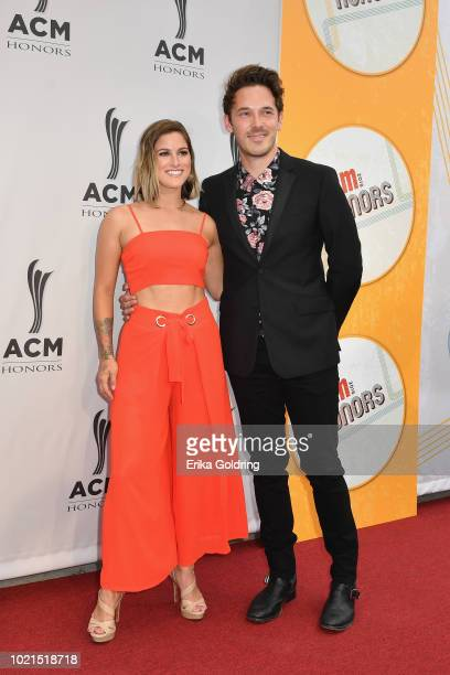 Cassadee Pope and Sam Palladio attend the 12th Annual ACM Honors at Ryman Auditorium on August 22 2018 in Nashville Tennessee