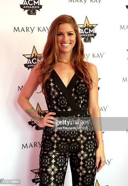 Cassadee Pope attends a signing at the Mary Kay booth during the ACM Party For A Cause Festival at Globe Life Park in Arlington on April 17 2015 in...