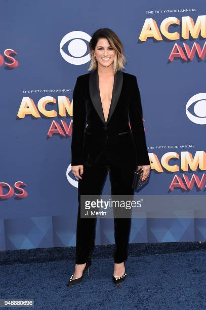 Cassadee Pope attends the 53rd Academy of Country Music Awards at the MGM Grand Garden Arena on April 15 2018 in Las Vegas Nevada