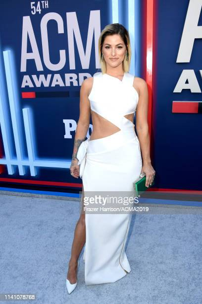 Cassadee Pope attends the 54th Academy Of Country Music Awards at MGM Grand Hotel Casino on April 07 2019 in Las Vegas Nevada