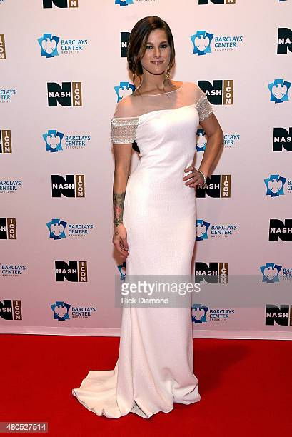 Cassadee Pope attends the Inaugural Nash Icon ACC Awards postshow party honoring Reba as the first recipient of the NASH ICON Award at aVenue on...