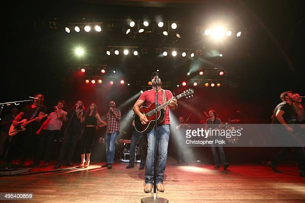 Cassadee Pope Corey Smith Mike Eli and Darius Rucker perform during the Fifth annual 'Darius and Friends' concert at Wildhorse Saloon on June 2 2014...