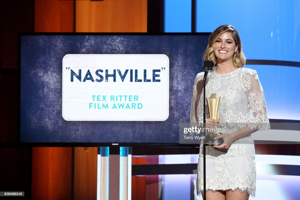 Cassadee Pope speaks onstage during the 11th Annual ACM Honors at the Ryman Auditorium on August 23, 2017 in Nashville, Tennessee.