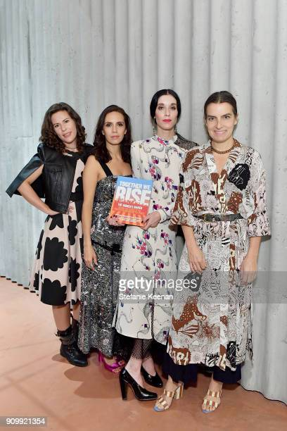Cassady Fendlay Sarah Sophie Flicker Paola Mendoza and Rachel Comey attend Conde Nast The Women March's Cocktail Party to Celebrate the One Year...