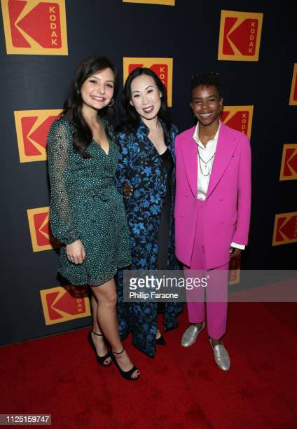 Cassady McClincy Angela Kang and Angel Theory attend the 3rd annual Kodak Awards at Hudson Loft on February 15 2019 in Los Angeles California