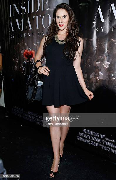Cassandra Bankson attends 'Inside Amato' New York premiere at Liberty Theater on September 16 2015 in New York City
