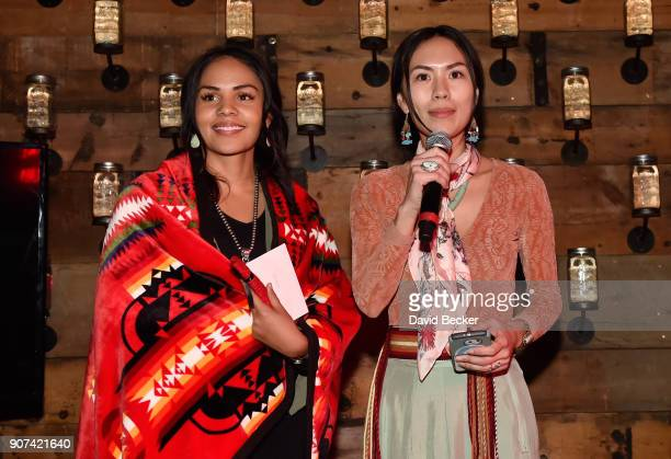Cassandra Begay and Denae Shanidiin attend Steelhouse and Eternal Front presents Beyond the Front Lines during the 2018 Sundance Film Festival on...
